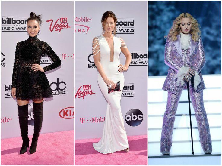 Vestidos curtos e longos, terninhos e mais sugestões para looks de festa que passaram pelo red carpet da Billboard Music Awards 2016.