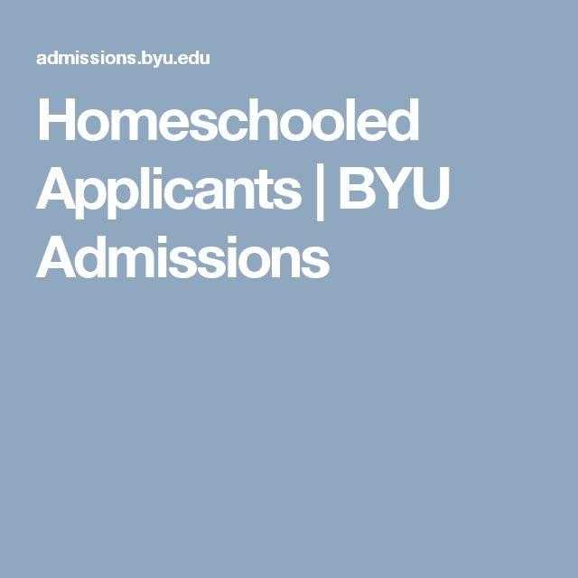 Homeschooled Applicants   BYU Admissions