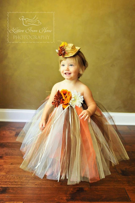 Fall Harvest Little Scarecrow Tutu Dress and by LilTutuDivas, $39.50   thanksgiving tutu dress for kaitlyn