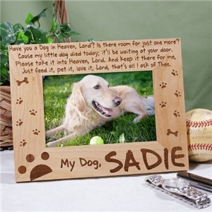 Dog Memorial Picture Frame Have You A Dog In Heaven All About