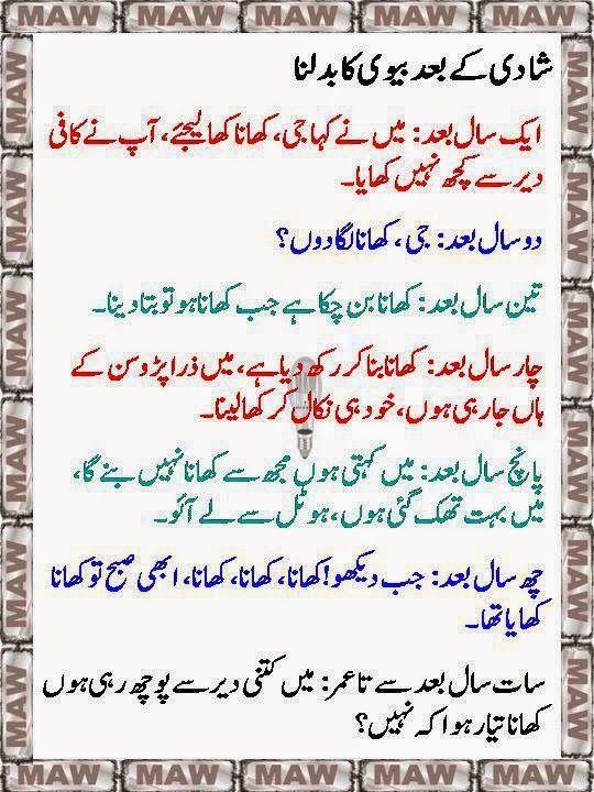 Urdu Latifay: Husband Wife Jokes In Urdu, Mian Bivi Urdu