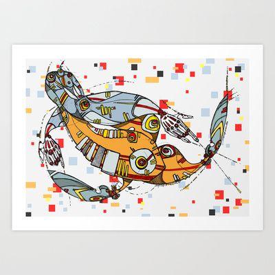 I never stop me   Art Print by Maccu Maccu - $14.56