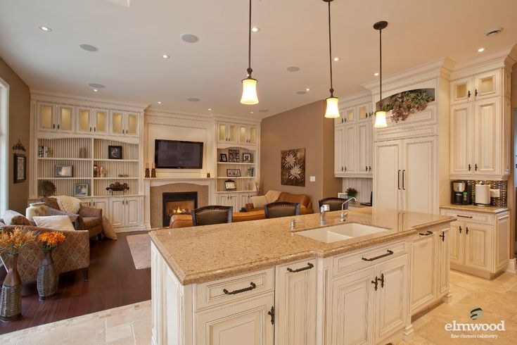 Open concept kitchen living room dream home design idea for Living room n kitchen
