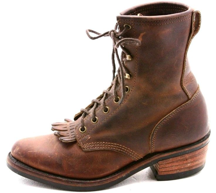 Santa Fe Boot Co Mens Cowboy Boots Size 8 D Brown Leather