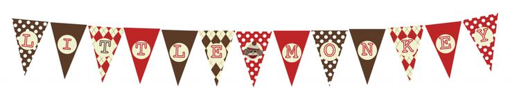 FREE Sock Monkey Printable Decorations for Baby Shower or Birthday Party