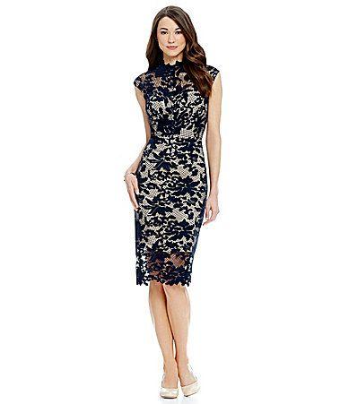Antonio Melani Madeleine Lace Sheath Dress #Dillards