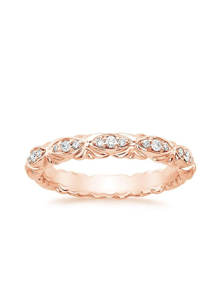 Paloma Diamond Ring in 14K Rose Gold-beautiful design. i want classic yellow gold though