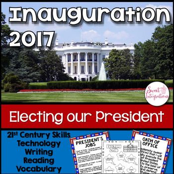 Before our president-elect can take over his duties as president of the United States, he must take the oath of office. This unit provides posters about the duties of the president, vocabulary, reading passages, and technology opportunities. There's lots of opportunities for student choice and differentiation in this social studies unit. For a hands-on activity, I've included a fun Branches of Government Flipbook.