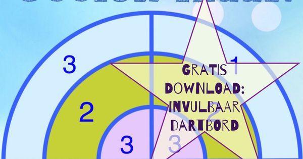 Gratis download: invulbaar dartboard voor sommen. Projecteer het op je smartboard en laat de kinderen met een softbal gooien (of print het op A3) | Pinterest