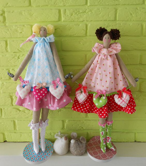 heart Tilda angels pink red and blue | Flickr - Photo Sharing!
