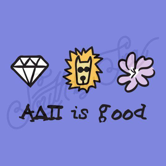 Sorority Recruitment Alpha Delta Pi Is Good Diamond Lion Flower South By Sea