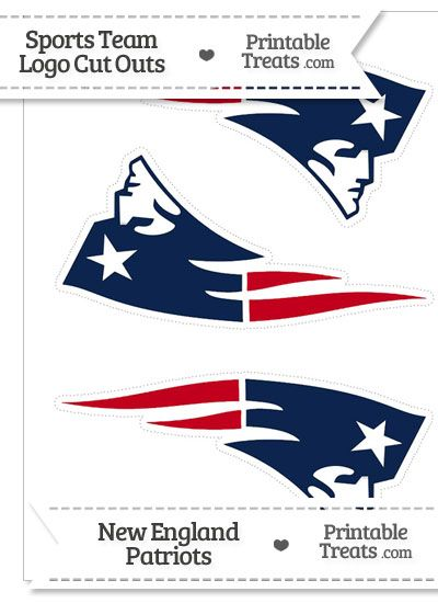 Medium New England Patriots Logo Cut Outs from PrintableTreats.com