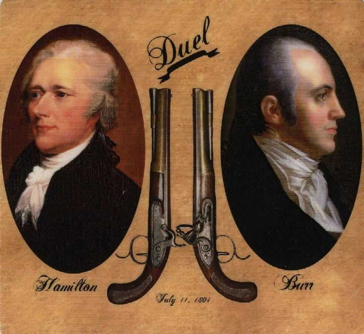 Alexander Hamilton-Aaron Burr Duel - On the morning of July 11, 1804, a sitting Vice President of the United States shot and subsequently killed a Founding Father.