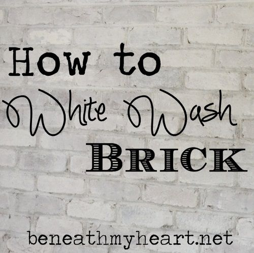 If you have exposed brick in your house that needs some toning down, consider white washing it.