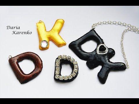 DIY Кулон с инициалами и 3D буквы своими руками \ Silicone pendant - YouTube