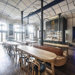 IO Studio references Czech porcelain  inside modern beer hall for Radegast