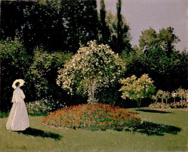 Claude Monet, Woman in the Garden, Sainte-Adresse, 1867, Hermitage Museum, Saint Petersburg