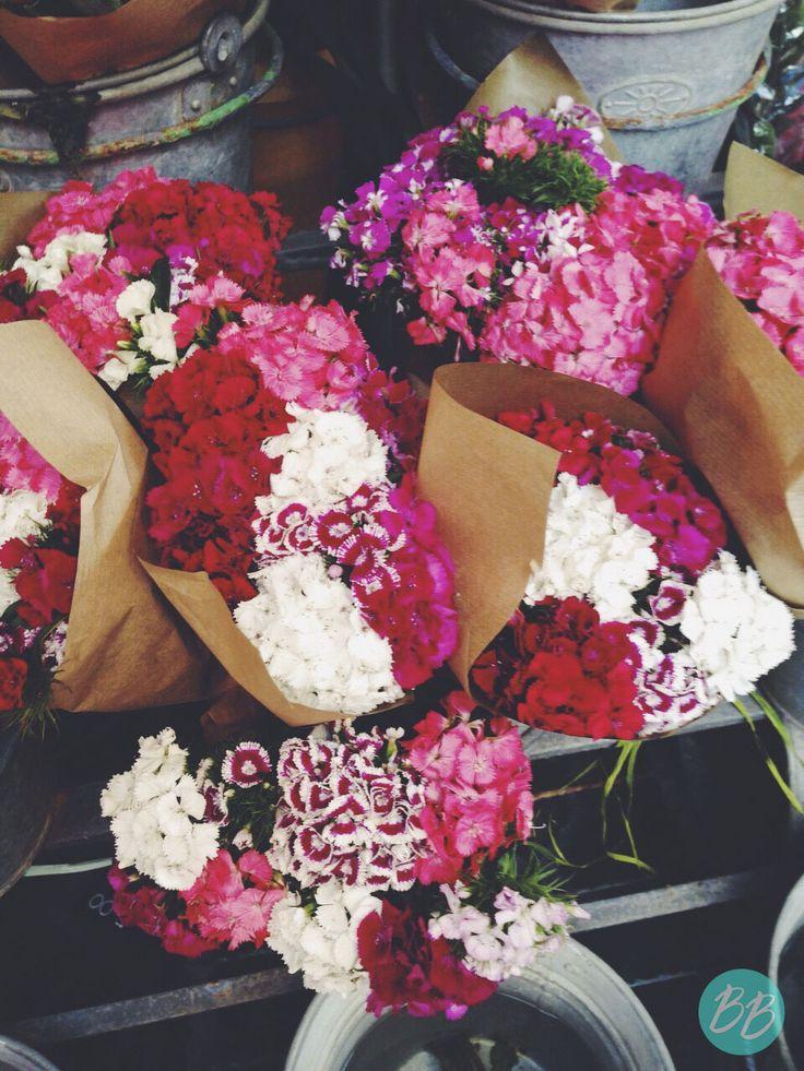 Comprando flores en Barcelona