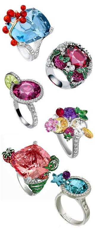 Piaget-cocktail rings