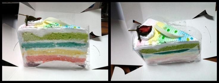 happy day rainbow cake