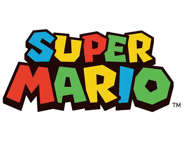 I love how fun the Super Mario brothers logo is. The use of color and shape makes it look fun and creative.