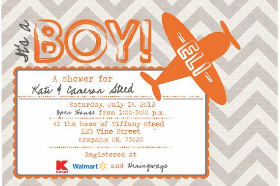 Printable POSTCARD Vintage Airplane baby shower by HindLand, $9.49