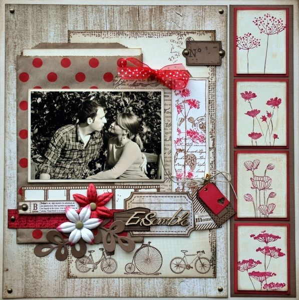 1000 id es sur le th me pages de scrapbooking sur pinterest scrapbooking m - Idee scrapbooking amour ...