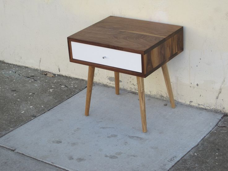 Jeremiah Collection Midcentury Side Table With Drawer. $650.00, via Etsy.