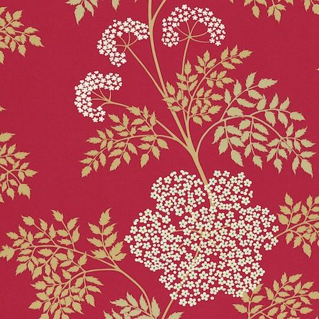 Sanderson Cowparsley Wallpaper DOPWCO102 Designer Fabrics and Wallpapers by Sanderson, Harlequin, Morris, Osborne, Little And many more