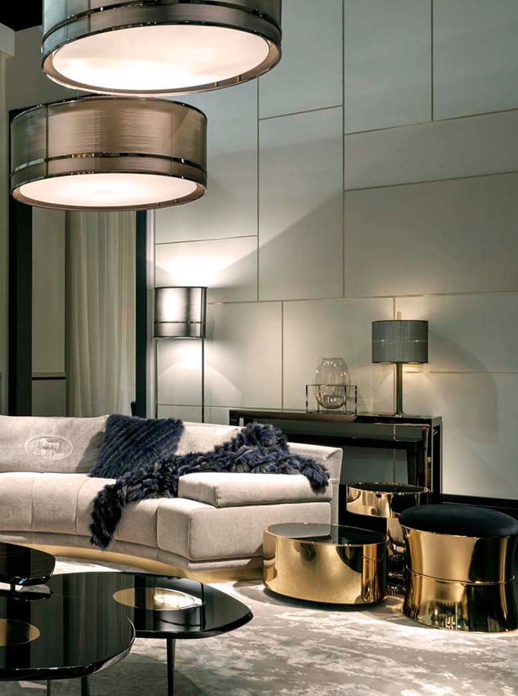 Fendi casa collection panelling coffee and tables for Contemporary living rooms 2016