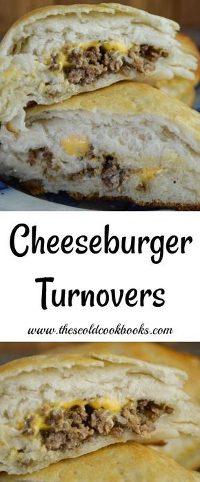 Cheeseburger Turnovers are perfect for the picky eaters in your family who don&#…