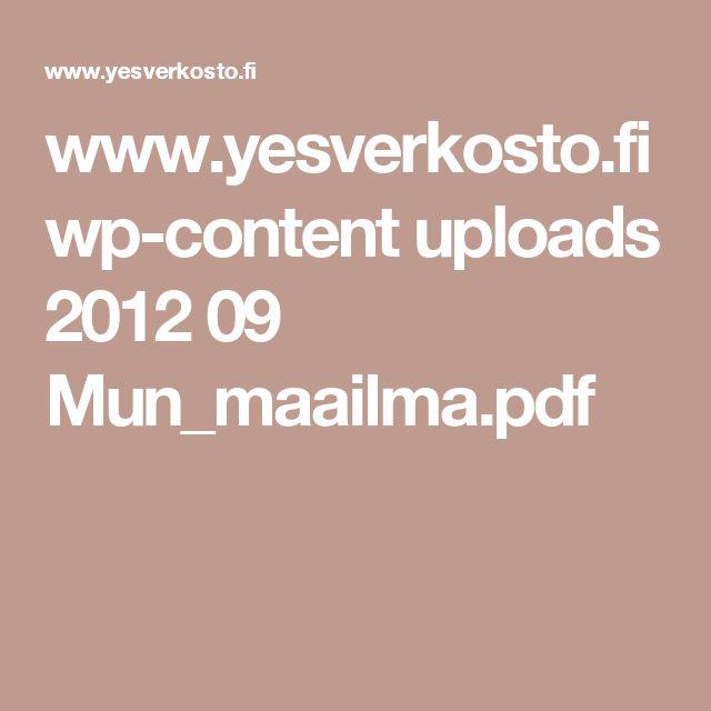 www.yesverkosto.fi wp-content uploads 2012 09 Mun_maailma.pdf