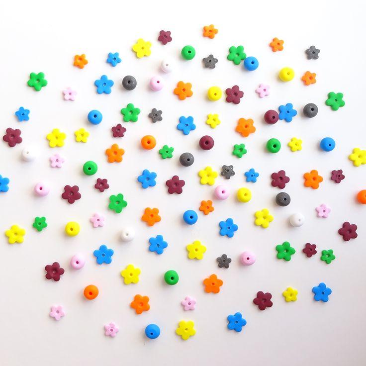 Polimer kil emzik boncuğu, emzik zinciri, anne, bebek, bebek modası, fimo, polymer clay beads