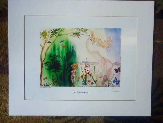 Salvador Dali Framed Print Le Printemps 1968 Italy by ListedArts