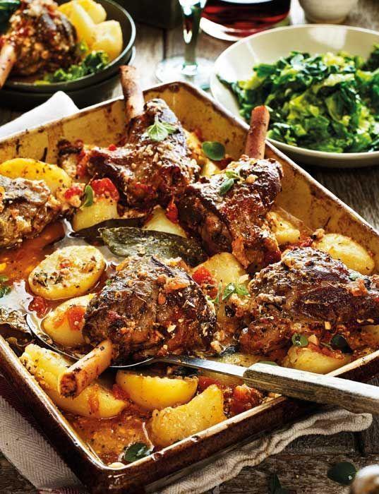 Greek lamb kleftiko with potatoes, oregano and lemon  - Sainsbury's Magazine // Food Recipe Ideas
