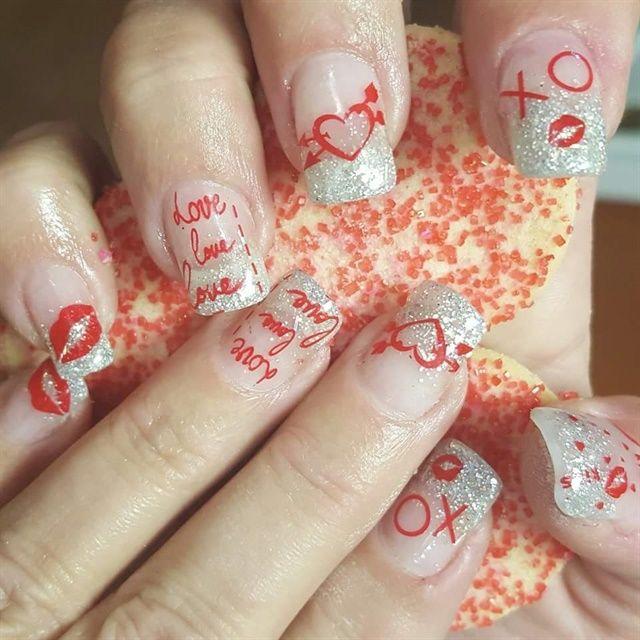 Day 40: Lots of Love Nail Art