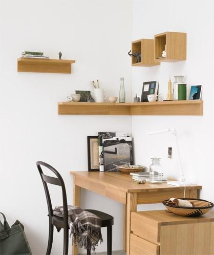 Muji - office nook shelves