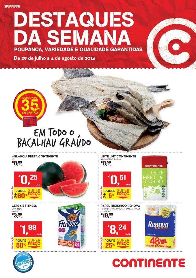 Promoções Folheto Continente Online! - de 29 de julho a 4 de Agosto - Destaques da Semana
