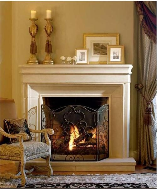 53 best images about our home family room on pinterest for Small den with fireplace