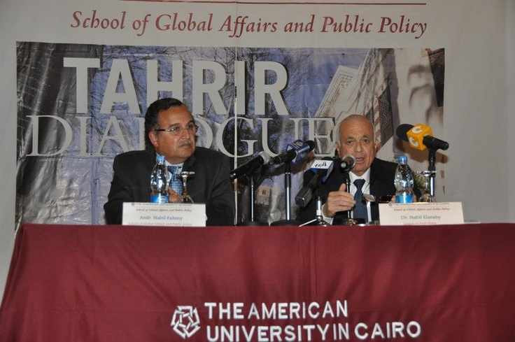 """The Arab World: Challenges and Opportunities"" Dr. Nabil El Araby shares his views with Dean Fahmy - March 11, 2013"