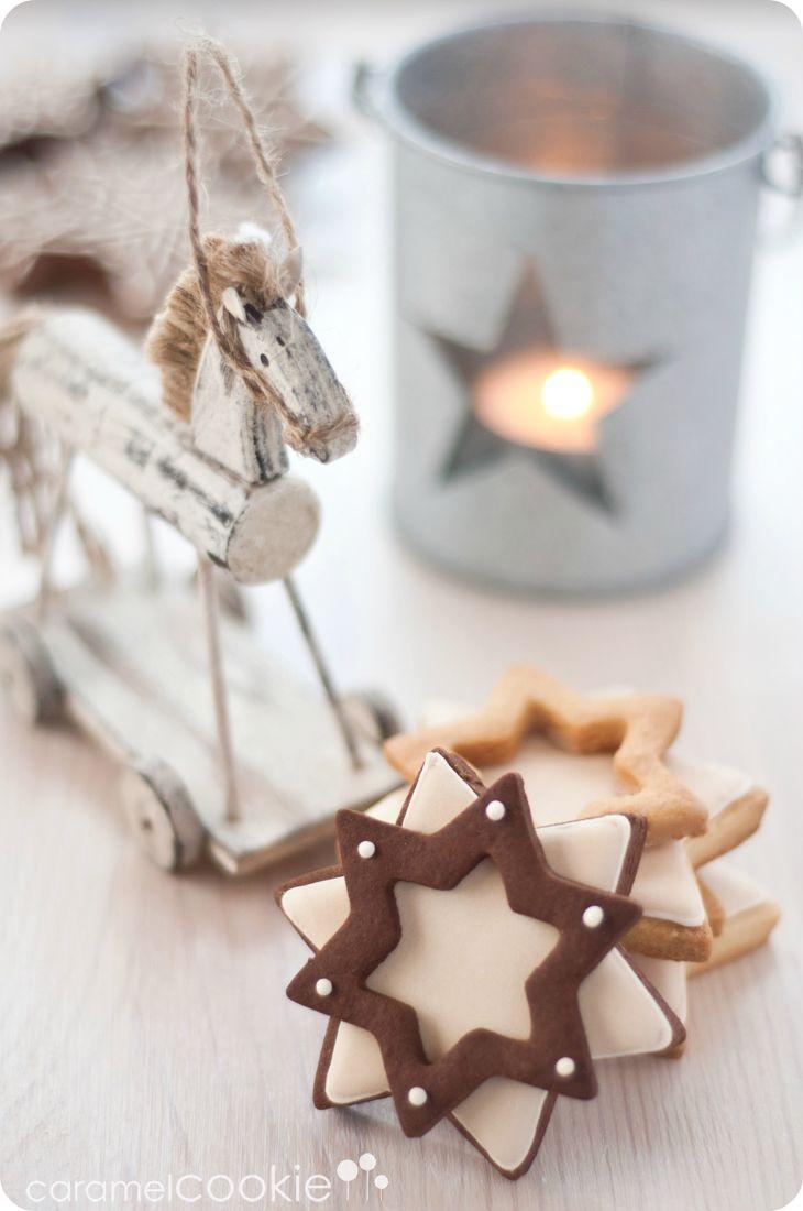 estrellas dobles de jengibre_caramel cookie