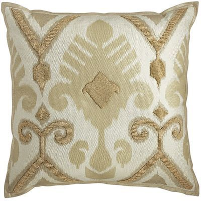 Natural Beaded Ikat Pillow | Pier 1 Imports                                                                                                                                                                                 More
