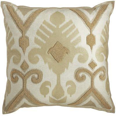 Natural Beaded Ikat Pillow | Pier 1 Imports                                                                                                                                                                                 More