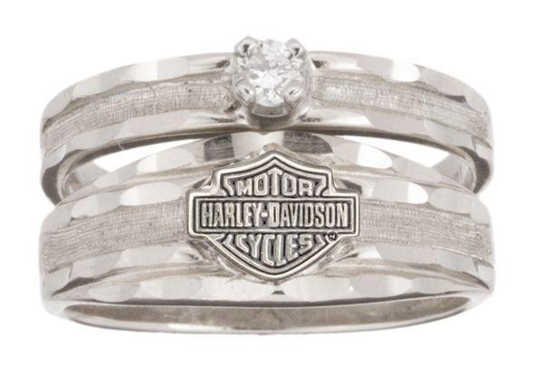 harley davidson wedding and engagement rings | Harley-Davidson® Womens Wedding Diamond White Gold 10K Diamond Ring ...