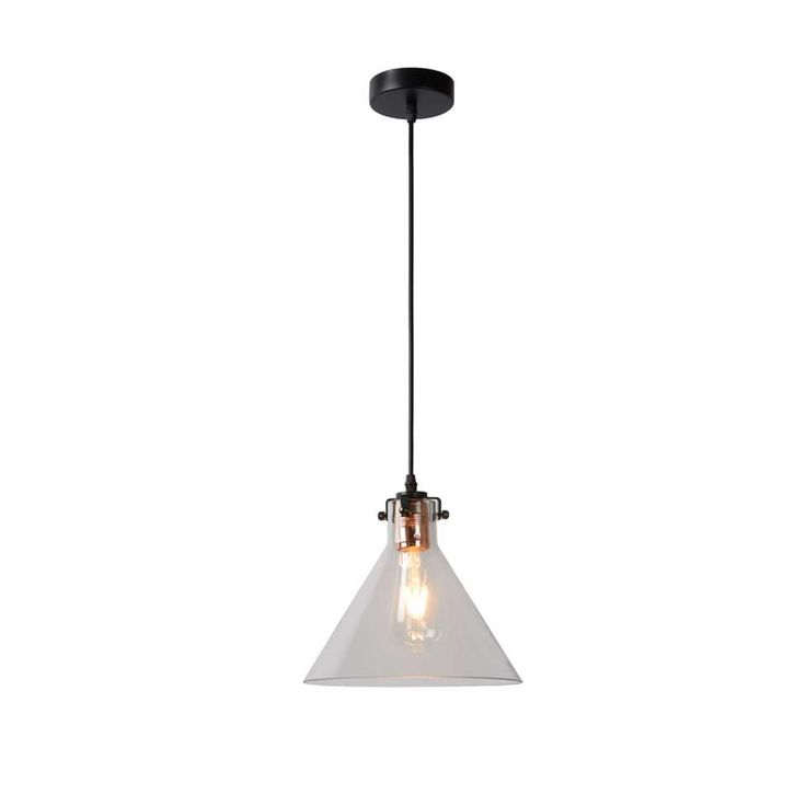 Lucide hanglamp Vitri - Ø24 cm - helder glas