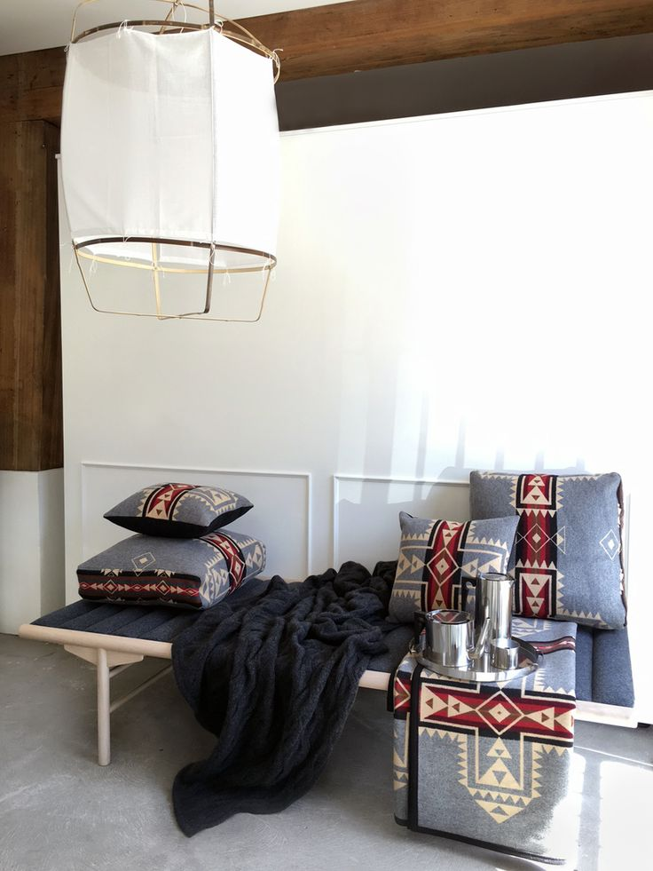 Menu Day Bed, Aye Illuminate light, Pendleton Story with Bemboka throw @lucdesign