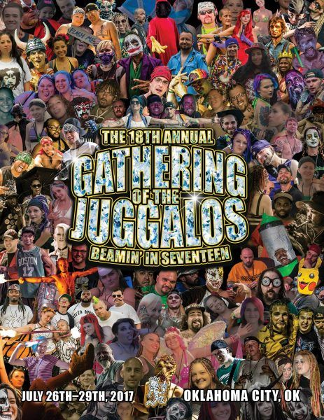 Cover Art for GOTJ 18 Program Revealed!   Today on the Insane Clown Posse Facebook they unveiled the program cover art for the 18th Annual Gathering of the Juggalos!  Who made it onto the cover? Well JUGGALOS of course! If youve been to a Gathering youll probably recognize several faces on it! I know that there are at least a half dozen ninjas/ninjettes on there who rep Faygoluvers!  Have you seen the artwork yet? Did you make the cover? Check out a full-size version below:  Click to…