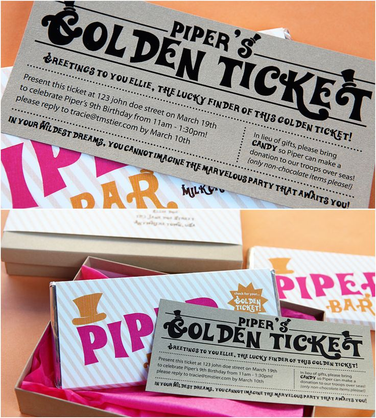 8c056c0c87d9cd78453a6b2734c5f793  golden ticket golden birthday Top Result 60 Unique Willy Wonka Invitations Templates