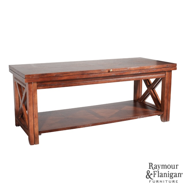 Tucson Flip Top Coffee Table This Tucson Flip Top Coffee Table In Tobacco Brown Features