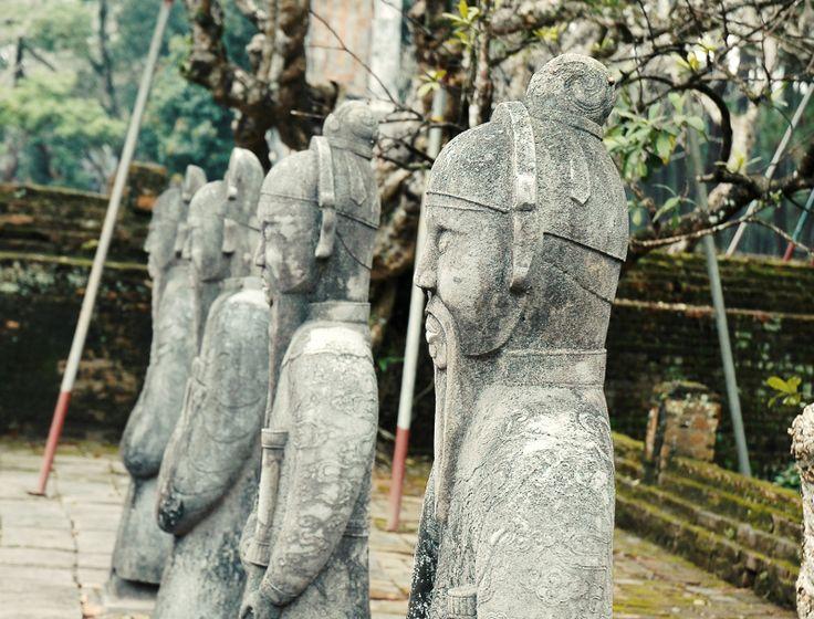 The statues of high ranking Mandarine in honor court in Tu Duc Tomb